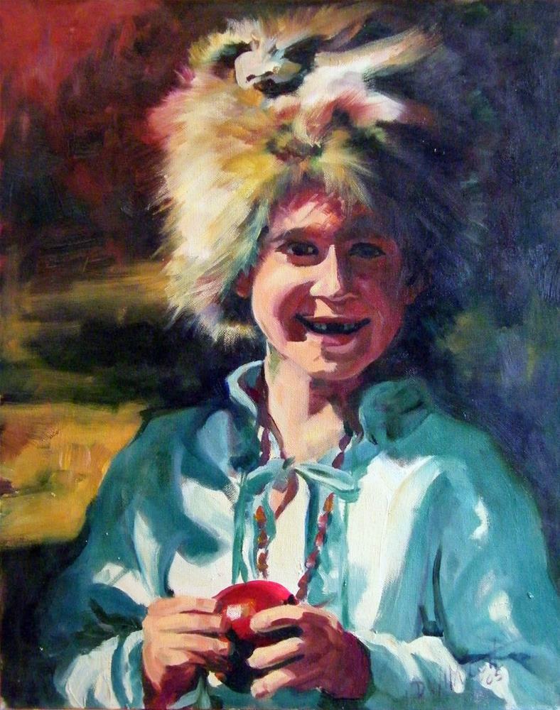 """Coon Cap"" original fine art by Donna Whatcott Parsons"