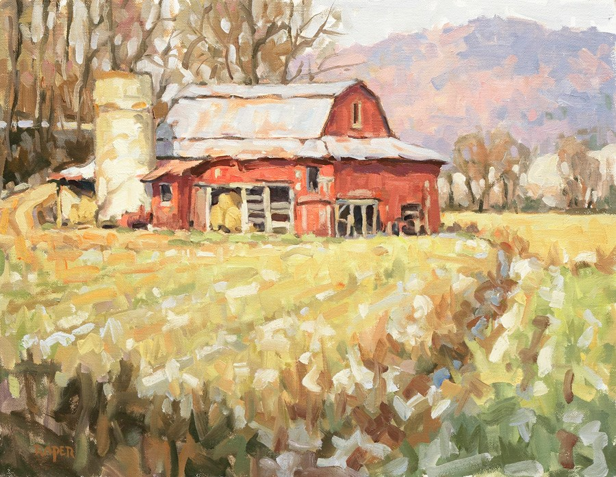 """DAY 31!  Golden Afternoon"" original fine art by Stuart Roper"