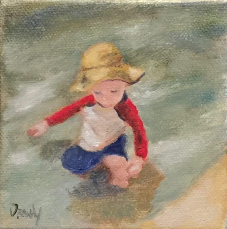"""""""Baby in the Water"""" original fine art by Stephanie Drawdy"""