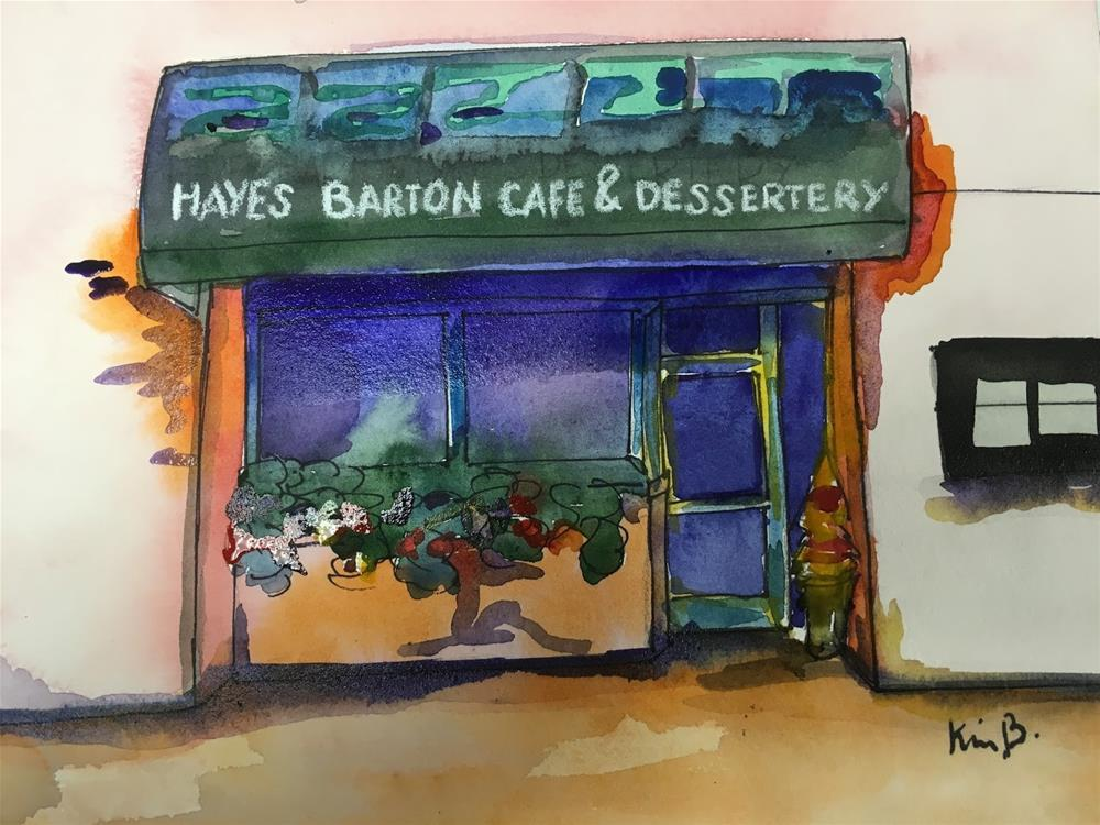 """#19 #30in30 - Hayes Barton Grill"" original fine art by Kimberly Balentine"