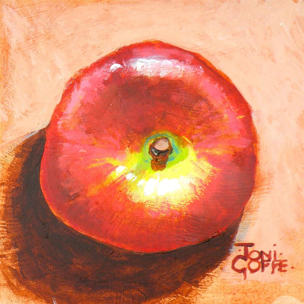 """Doughnut Peach"" original fine art by Toni Goffe"
