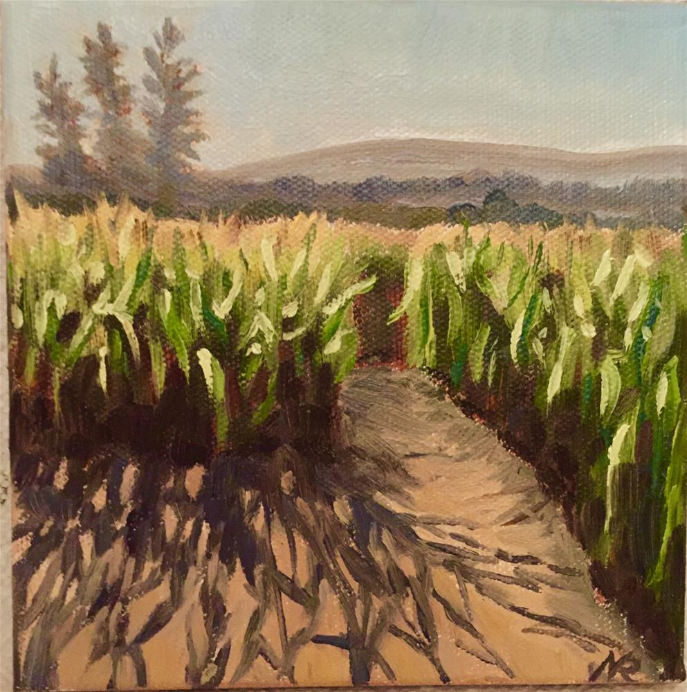 """Corn maze"" original fine art by Natasha Ramras"