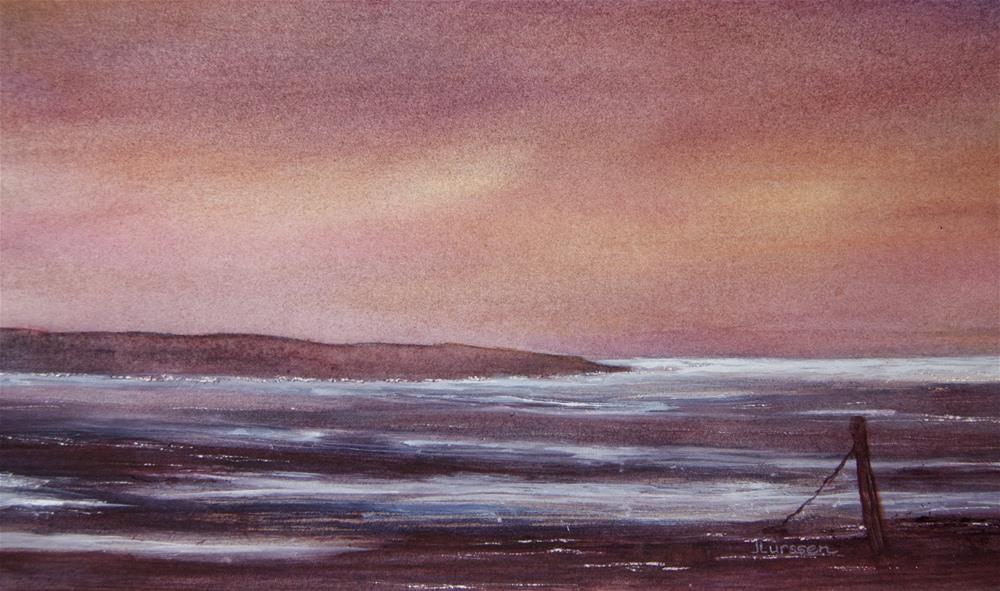 """""""Low Tide"""" original fine art by Jean Lurssen"""