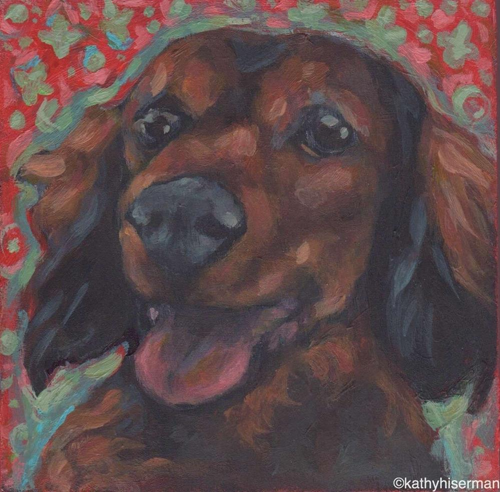"""Parker T."" original fine art by Kathy Hiserman"