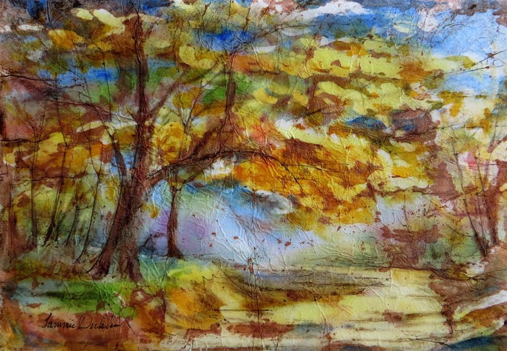 """Autumn in Batik"" original fine art by Tammie Dickerson"