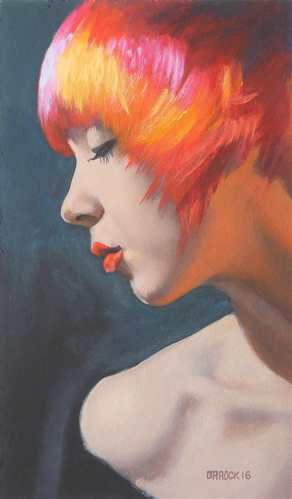 """Living doll"" original fine art by Peter Orrock"