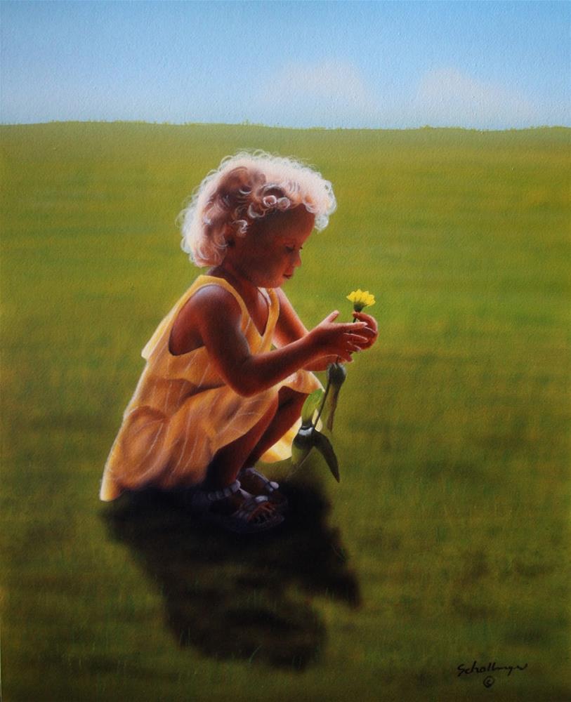 """Sunshine Girl"" original fine art by Fred Schollmeyer"