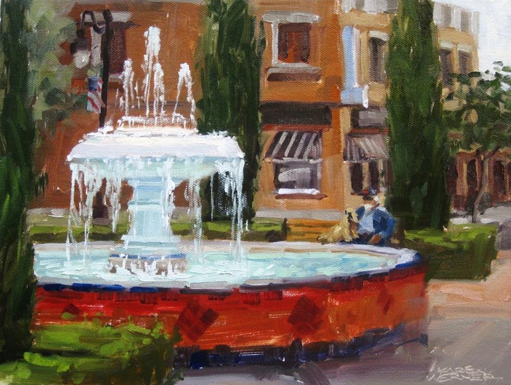 """""""A Fountain Rest"""" original fine art by Karen Werner"""