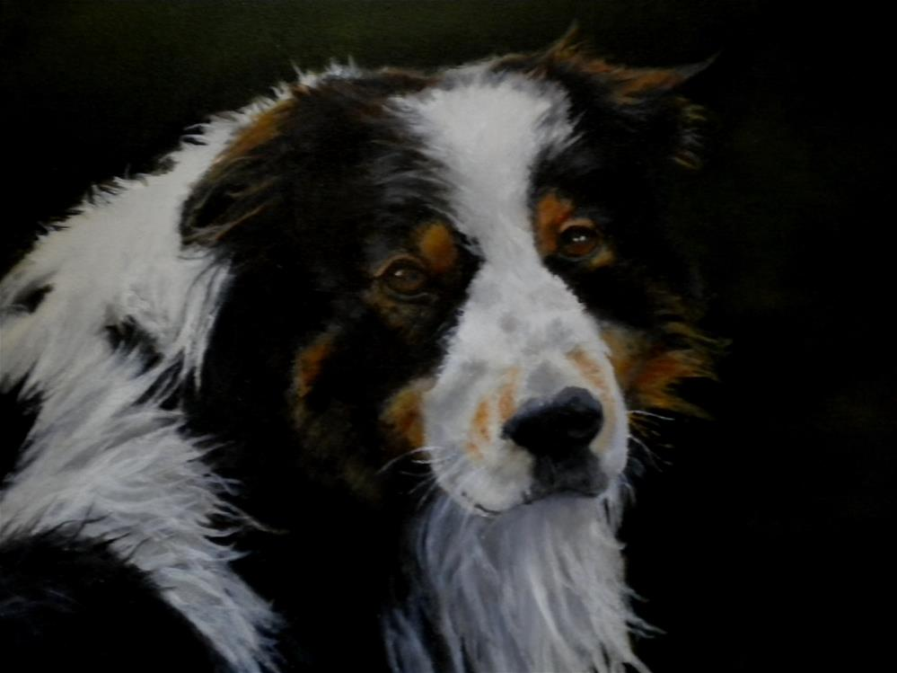 """Canine Portrait Oil"" original fine art by Hilarie Johnson"