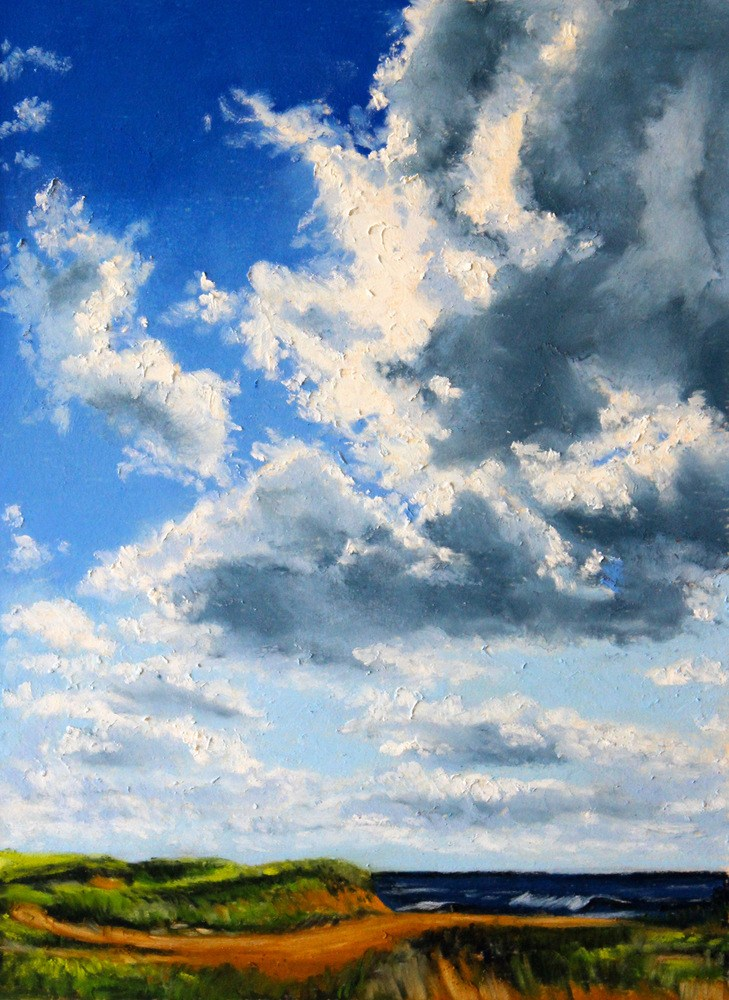 """Clouds Over Cisco"" original fine art by Jill Bates"