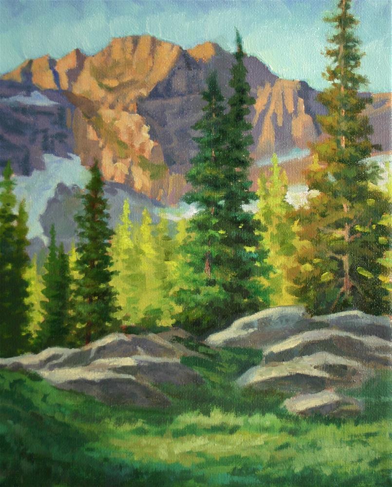 """Sawtooth Afternoon"" original fine art by K.R. McCain"
