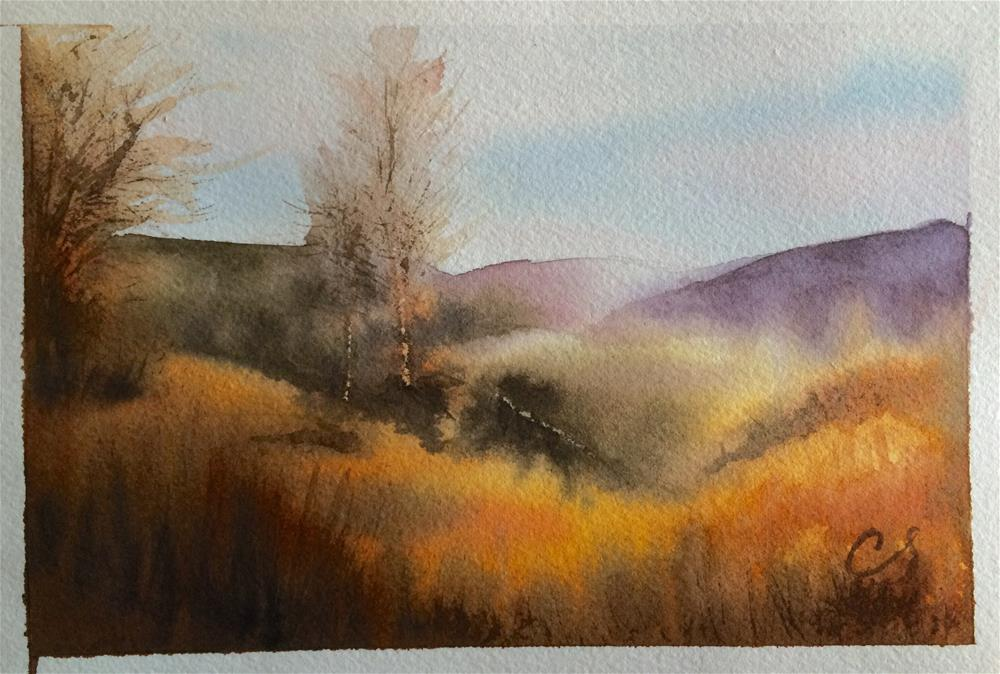 """Late Autumn"" original fine art by Claudia Selene"