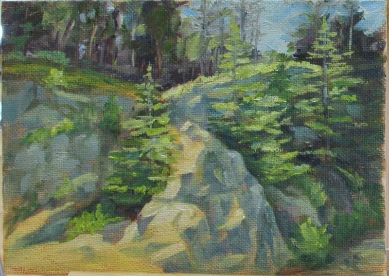 """Lincoln Island Rocks 2"" original fine art by Christine Lewis"
