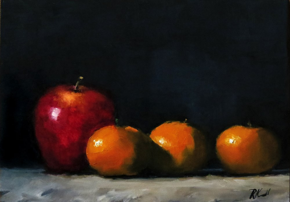 """""""Apple and Clementines"""" original fine art by Bob Kimball"""