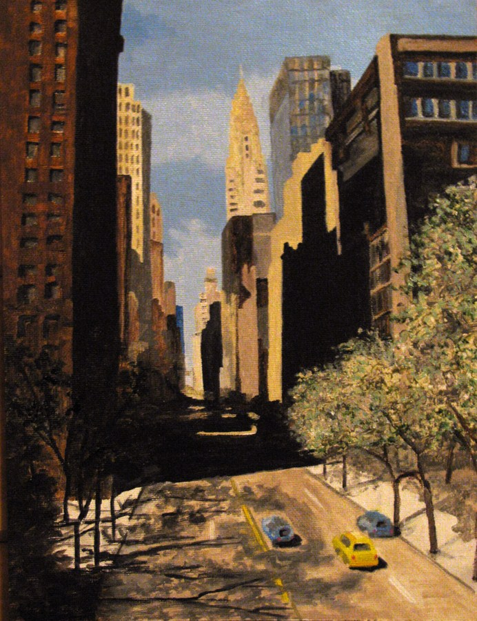 """East 42nd Street"" original fine art by Nan Johnson"