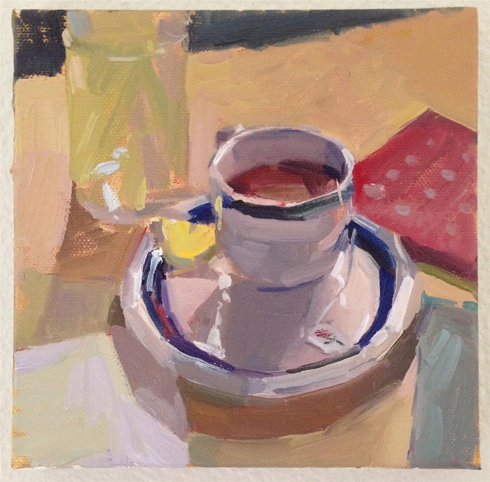"""Tea and True Stories"" original fine art by Sarah Sedwick"