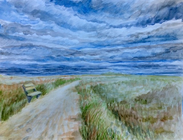 """Nauset in a storm"" original fine art by Hilary J. England"
