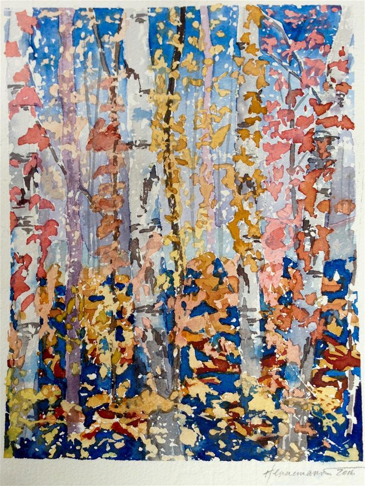 """Leaves & Flakes"" original fine art by Eileen Hennemann"