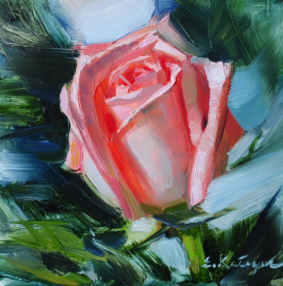 """Rose in Bloom"" original fine art by Elena Katsyura"
