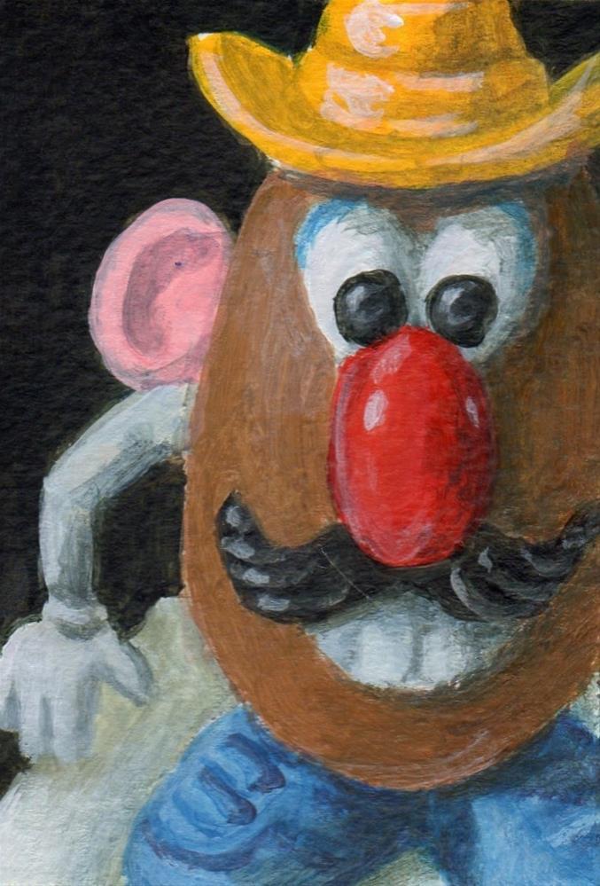 """Tater Tot"" original fine art by Debbie Shirley"