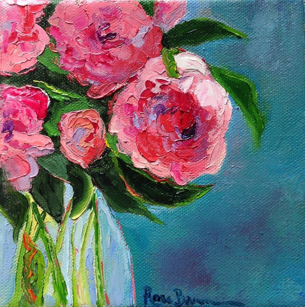 """The Pink Peonies"" original fine art by Rose Brenner"