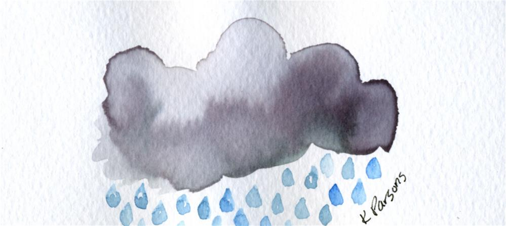 """It's Raining"" original fine art by Kali Parsons"