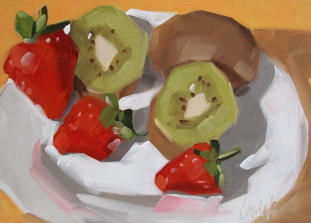 """Fruity"" original fine art by Brandi Bowman"