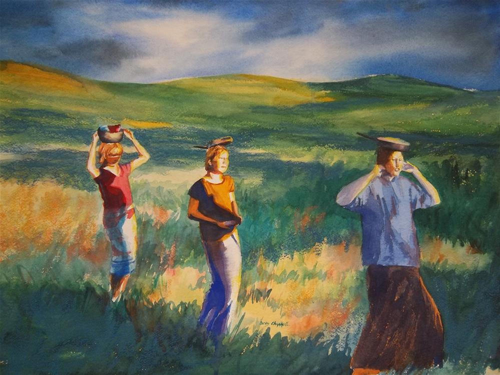"""Maidens Three"" original fine art by Becky Chappell"