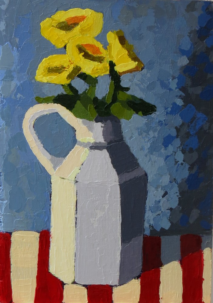 """Yellow Mums"" original fine art by Joan Wiberg"