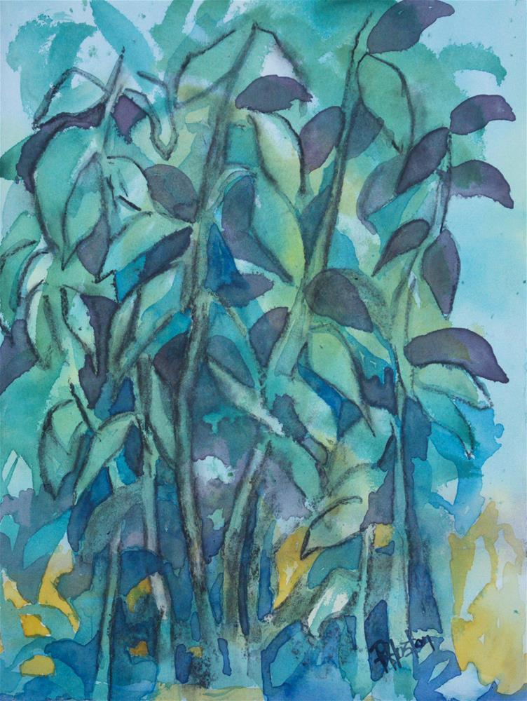 """Botanical Garden 31...River Cane (Arundinaria)"" original fine art by Richard Huston"