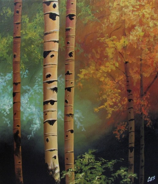 """Seasons"" original fine art by ~ces~ Christine E. S. Code"