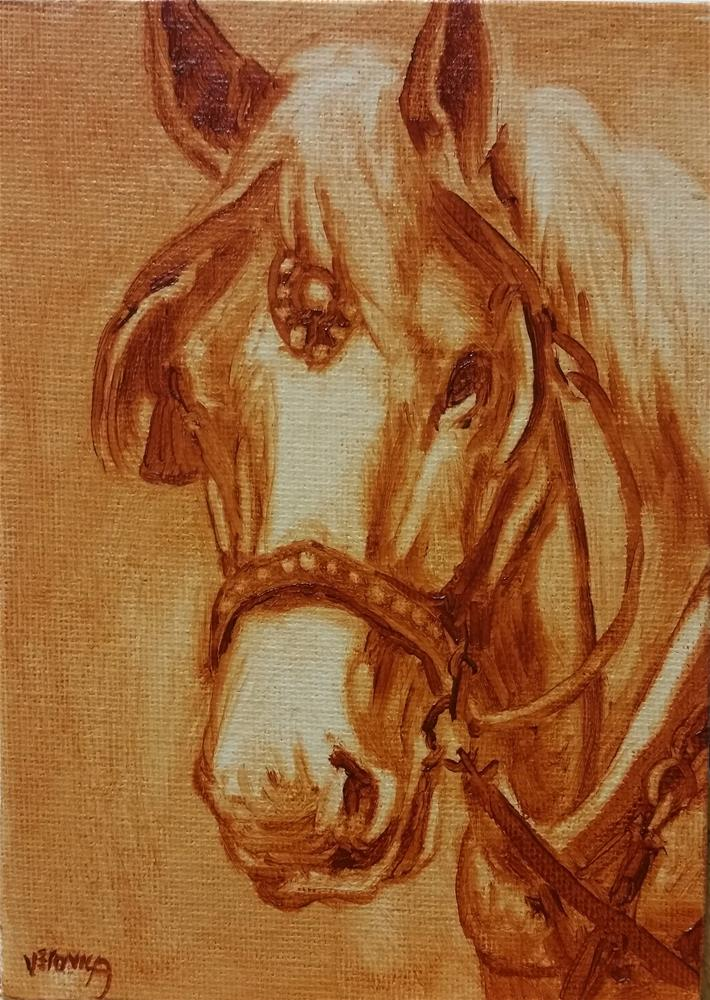 """Belgian"" original fine art by Veronica Brown"