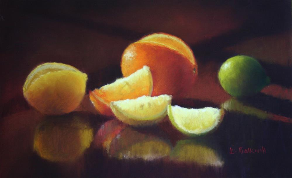 """Citrus"" original fine art by Liz Balkwill"