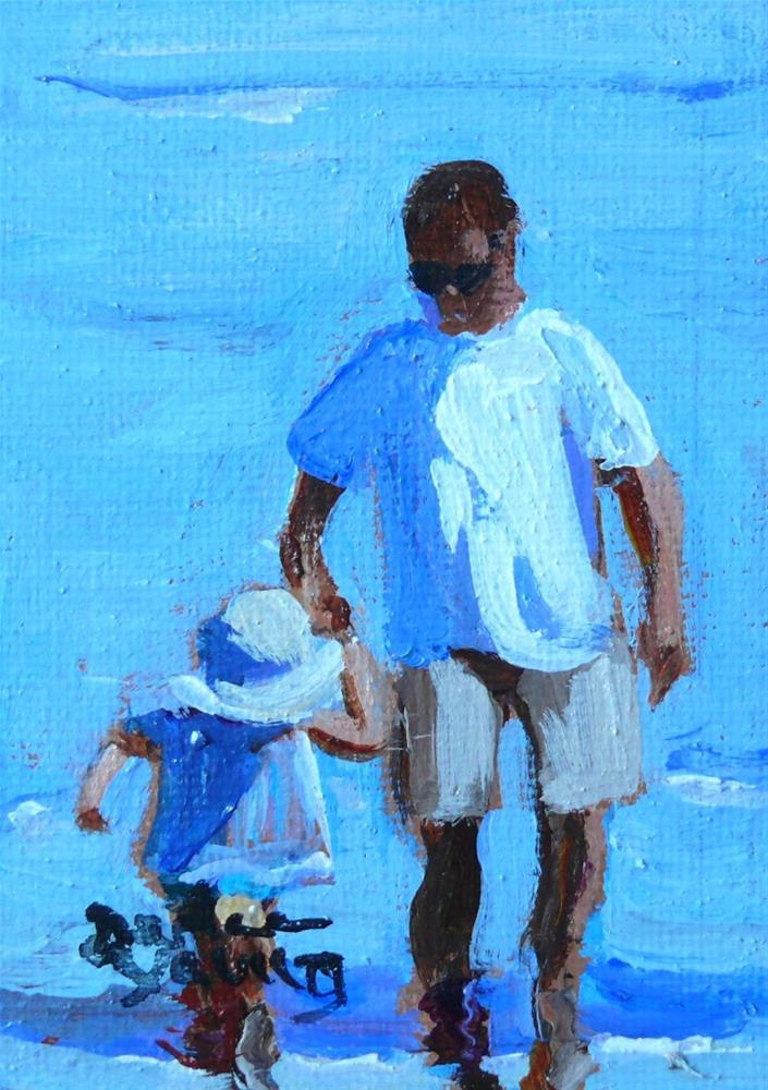 """863 Supporting Hand 3, oil on board 2.5x3.5"" original fine art by Darlene Young"