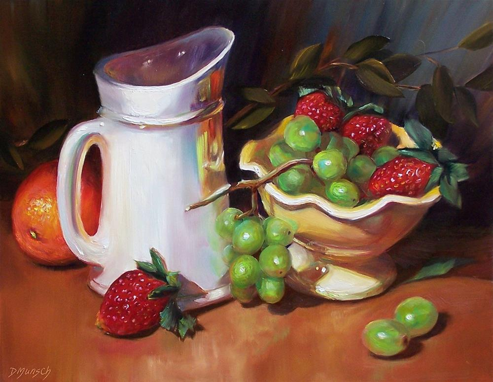 """Fruit Overflow"" original fine art by Donna Munsch"