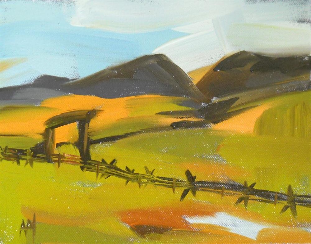 """jack fence on a fall day"" original fine art by Angela Moulton"