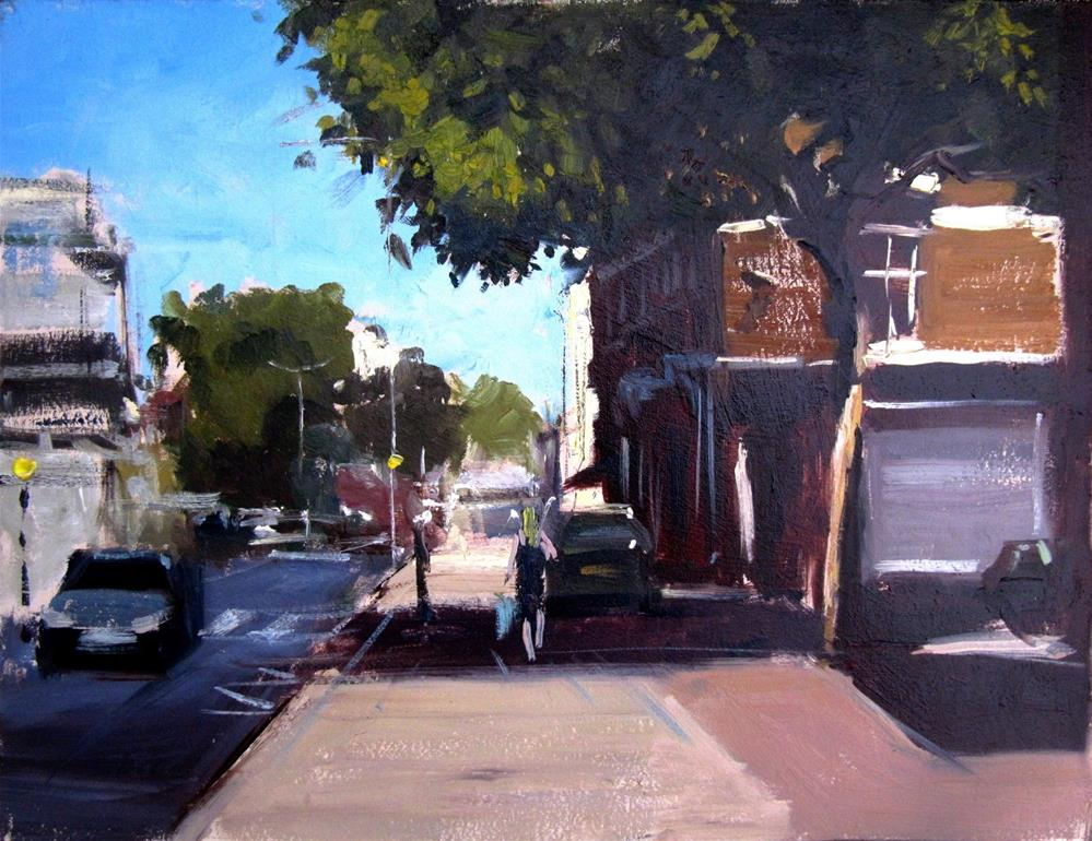"""Summer Shadows, Kings Road, Chelsea"" original fine art by Adebanji Alade"