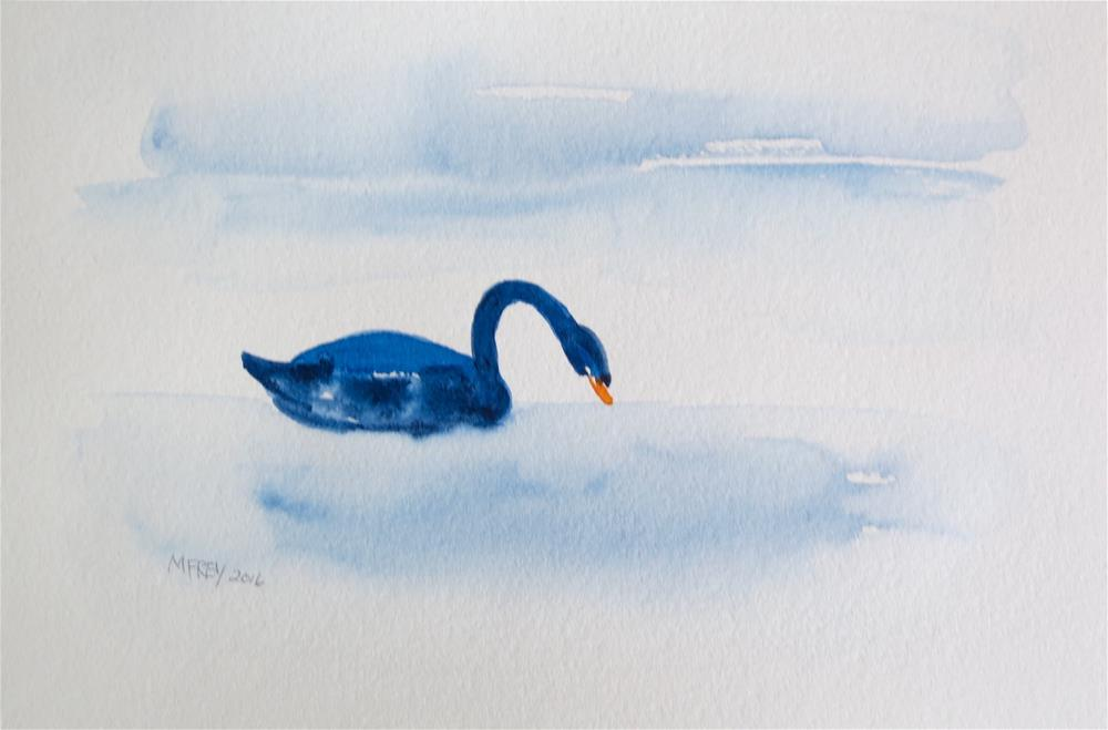 """Swan 0131"" original fine art by Michelina Frey"