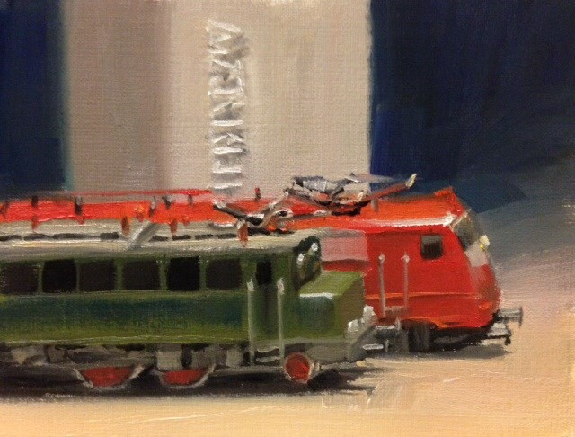 """Märklin Generations"" original fine art by Thomas Ruckstuhl"