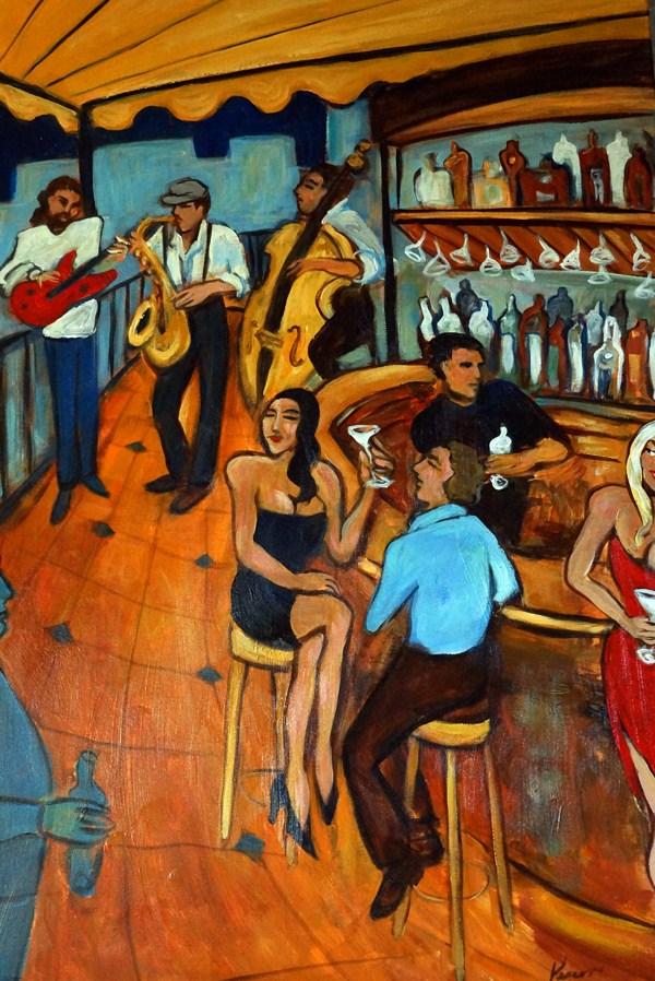 """Martini Night"" original fine art by Valerie Vescovi"