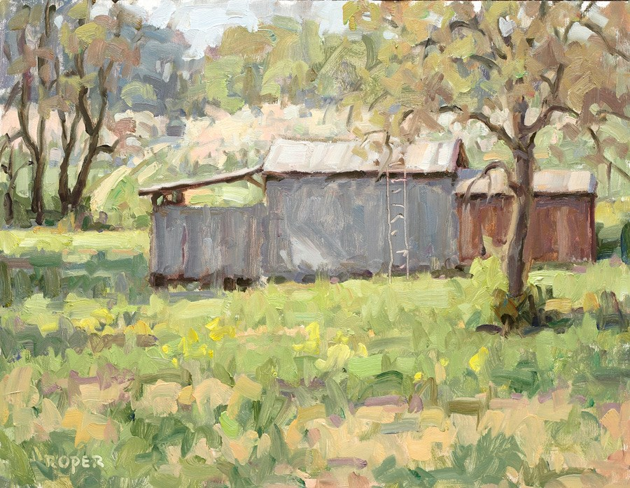 """Day 13:  Spring Orchard"" original fine art by Stuart Roper"