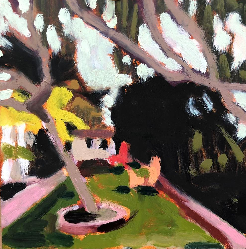 """Pocket Garden"" original fine art by Pamela Hoffmeister"