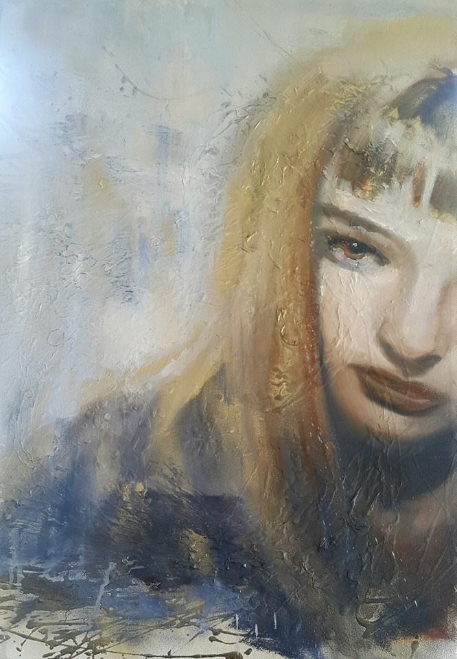 """Half a girl"" original fine art by Rentia Coetzee"