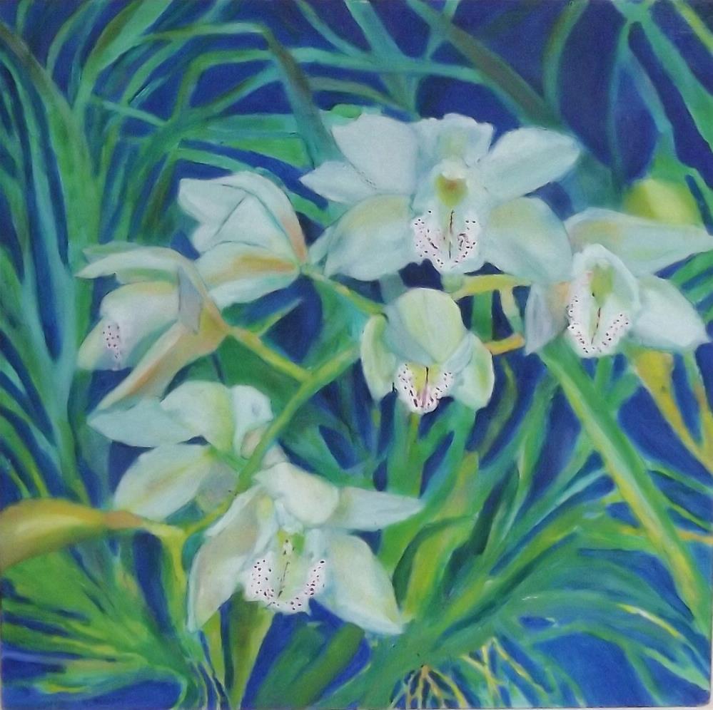 """Circle of Life Orchid"" original fine art by Elizabeth Current"