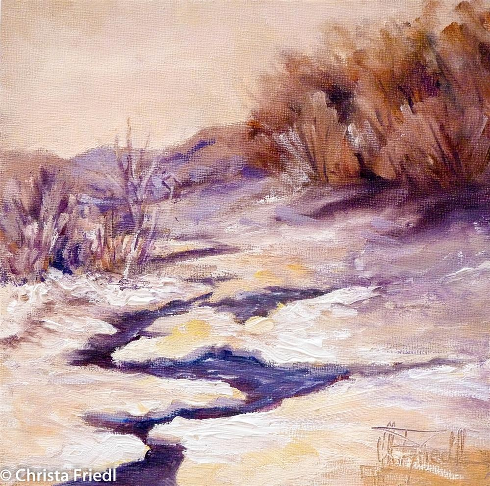 """almost frozen"" original fine art by Christa Friedl"