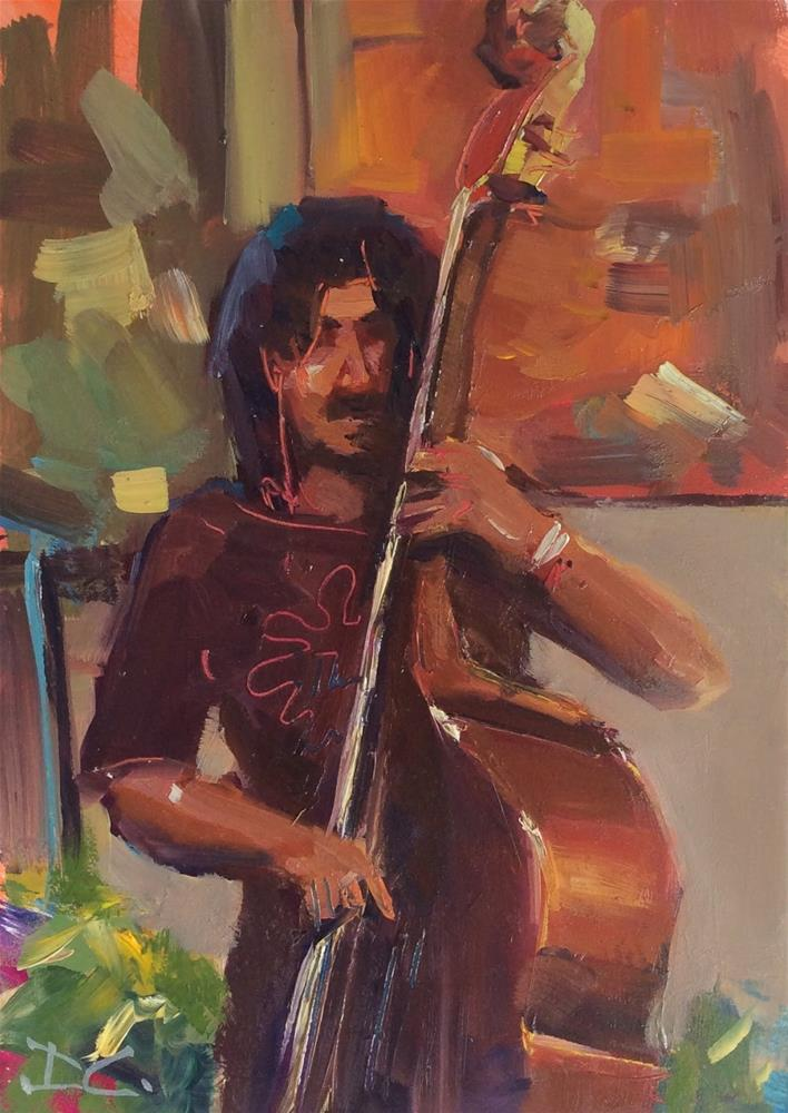 """ JAMMING "" original fine art by Doug Carter"