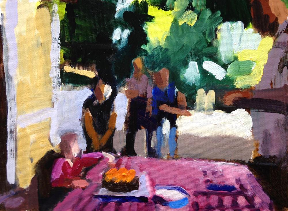 """""""First Birthday"""" original fine art by Pamela Hoffmeister"""