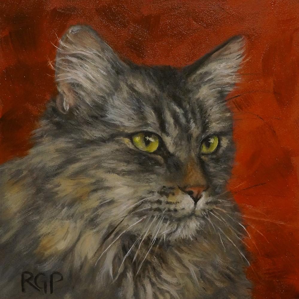 """Alicita Sitting Pretty"" original fine art by Rhea  Groepper Pettit"