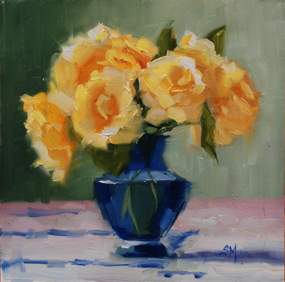 """No. 674 Missing Those Roses"" original fine art by Susan McManamen"
