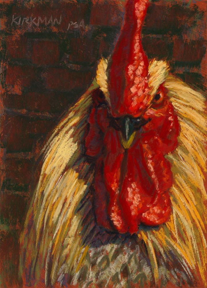 Don't Call Me Chicken! original fine art by Rita Kirkman